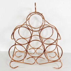 Boho Wire Copper-Tone Wine Bottle Storage Rack